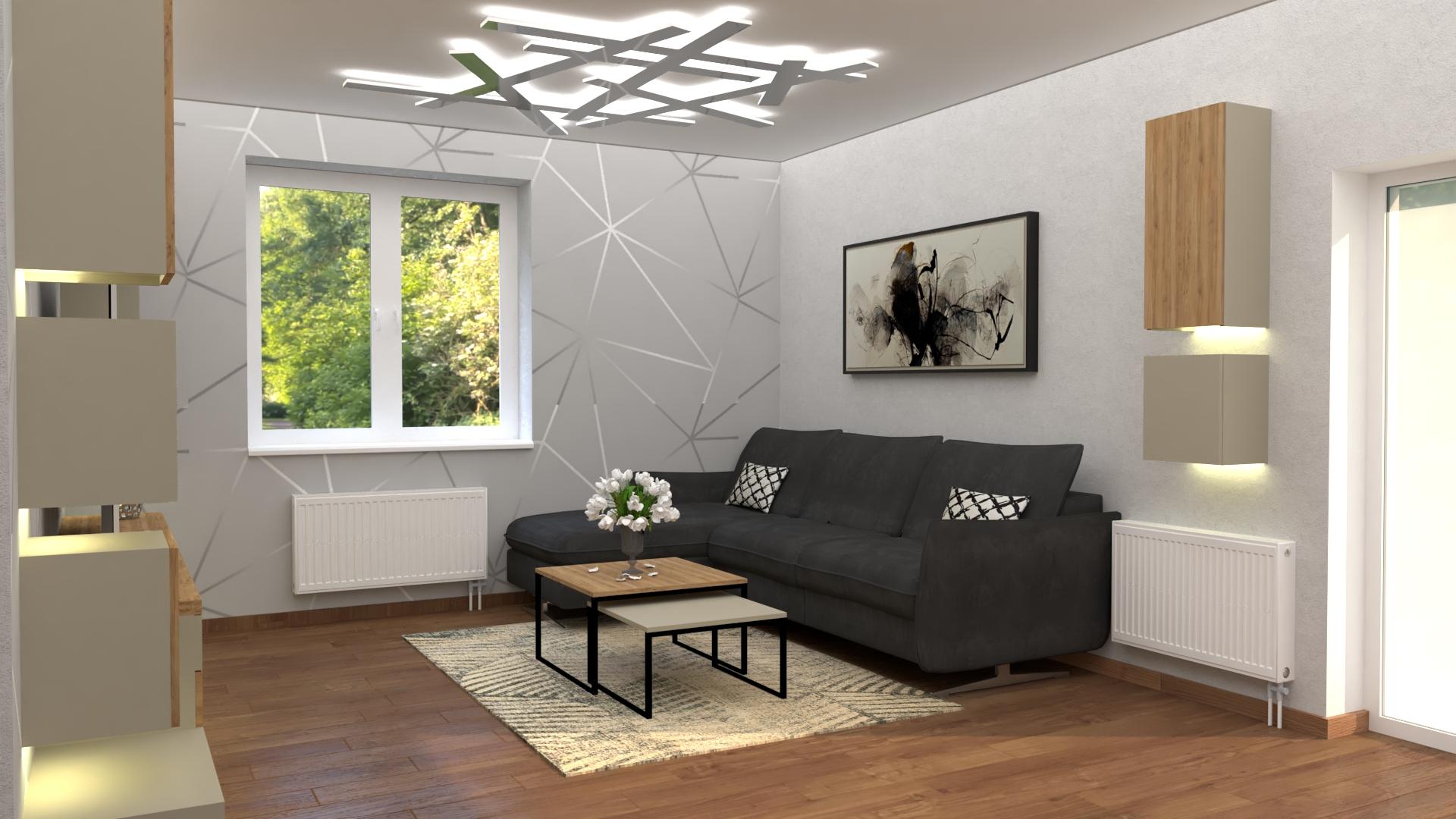 3D vizualizácia obývačky